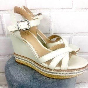 Antonio Melani Blondee Wedge Sandals Leather